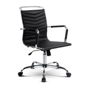 Eames Replica Office Chair Executive Mid Back Seating PU Leather Adelaide CBD Adelaide City Preview