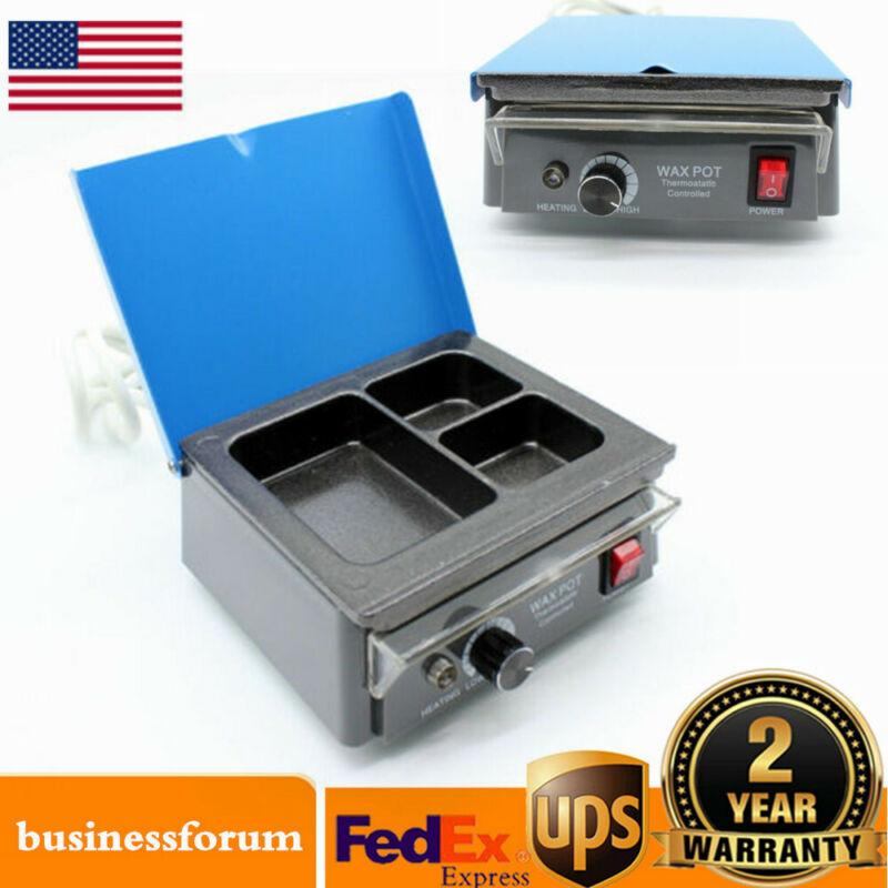 Dental 3-Well Pot Lab Melting Pot Dipping Analog Wax Heater Melter Equipment USA