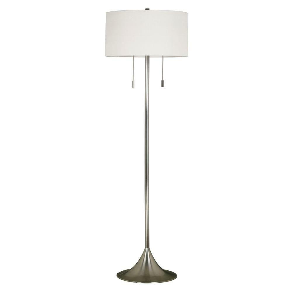 Stowe Floor Lamp in Brushed Steel Finish