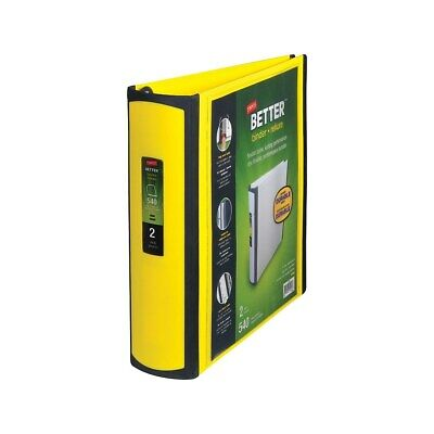 Staples Better 2-inch D 3-ring View Binder Yellow 20248 895620