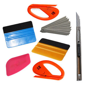 Eco Car Vinyl Wrapping Tools Felt Squeegee Snitty Cutter Installation Combo