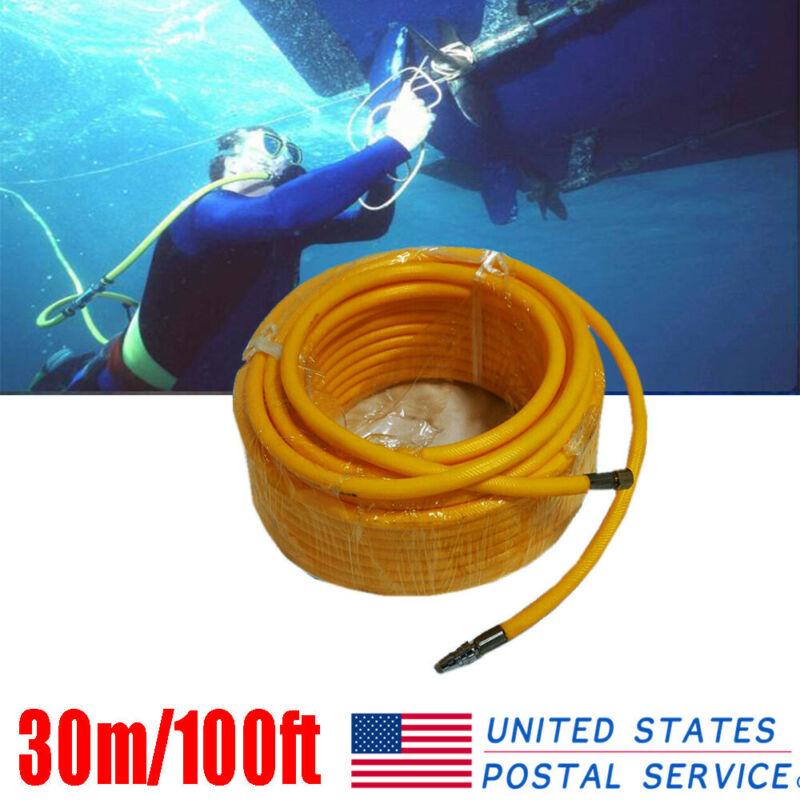 30M/100ft Snorkelling Diving Compressor Pipe Air Breathing Hookah Hose US
