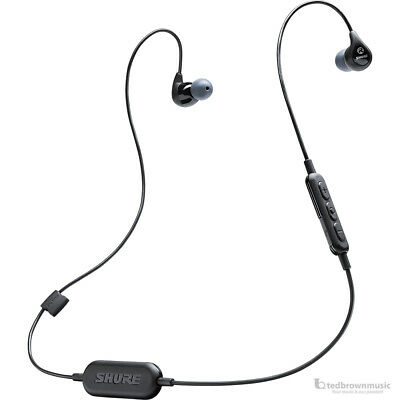 Shure Wireless SE112 Sound Isolating In-Ear Monitors w/ Bluetooth Cable Black