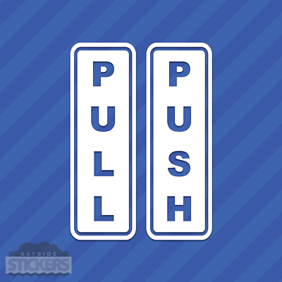 Home Decoration - Push Pull Door Sign Entrance Exit Vinyl Decal Sticker
