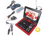 "Red 9.8"" Portable EVD DVD USB SD Game TV Player,FM radio,Free 300 Games Disc"