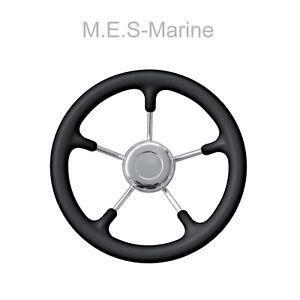 BOAT STEERING WHEEL SOFT GRIP MARINE STAINLESS STEEL 280MM Speedboat Rib Tender