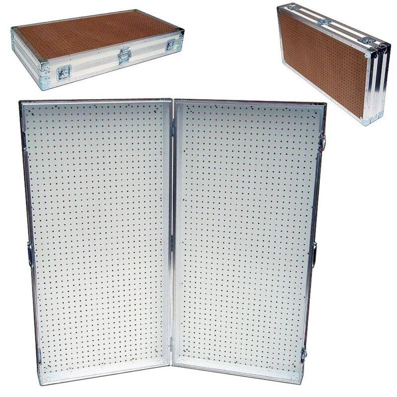 "Pegboard Display Pegboard Rack Stand Portable Pegboard Case - 48"" x 48"" High"