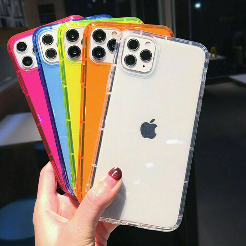 Case For iPhone 13 12 11 Pro Max XR 8+ Soft Silicone Shockproof Slim Clear Cover