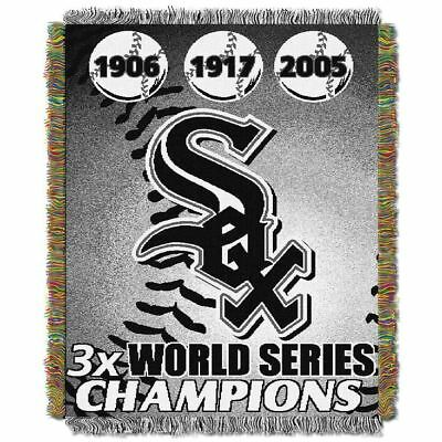chicago White Sox MLB World Series Commemorative Woven Tapestry Throw 48x60