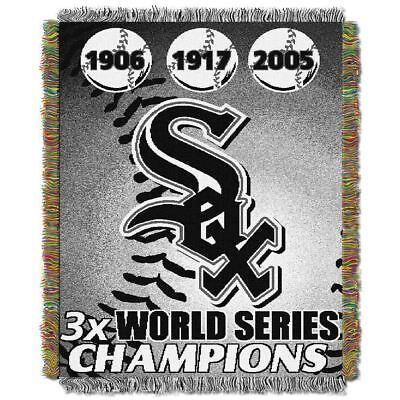 Mlb Woven Tapestry Throw - chicago White Sox MLB World Series Commemorative Woven Tapestry Throw 48x60