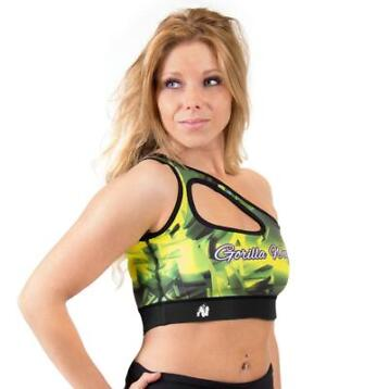 Gorilla Wear Reno Sports Bra - Yellow - S