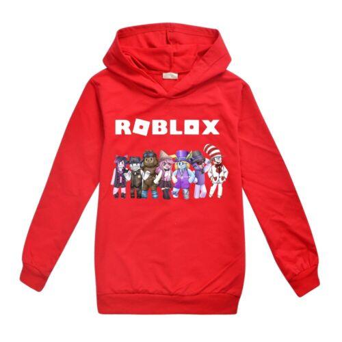 New ROBLOX Prints Long Sleeve Hoodie Boys Girls Pullover Hooded Sweatshirt Tops