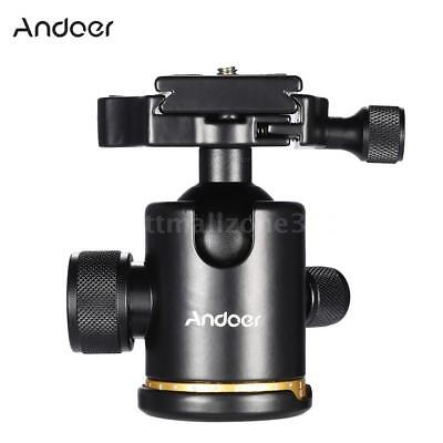 360° Swivel Video Camera Tripod Ball Head with Quick Release Plate Mount Holder