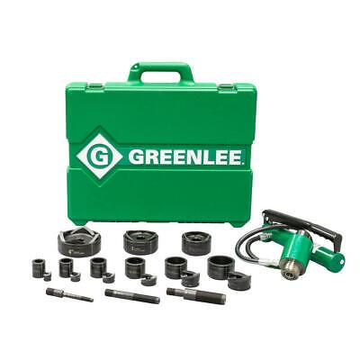 Greenlee 7309sb 11-ton Slug-buster Hydraulic Knockout Kit With Hand Pump