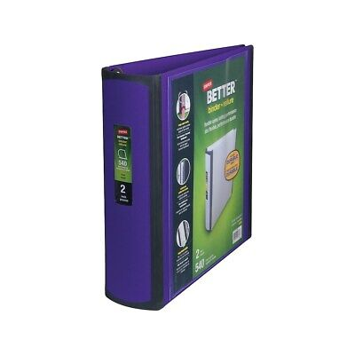 Staples Better 2-Inch D 3-Ring View Binder Purple  895622