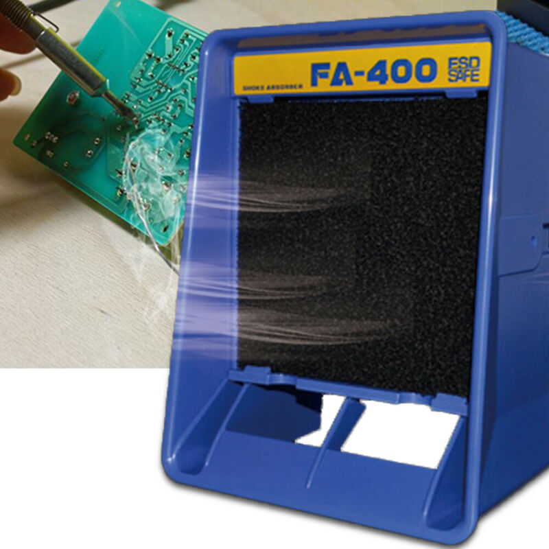 Protable Solder Smoke Absorber Remover Fume Extractor Air Filter Fan Soldering
