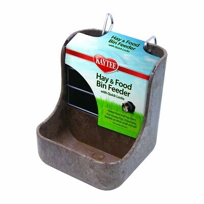 Kaytee Hay and Food Bin Feeder with Quick Locks   Dispenser For Small Animals