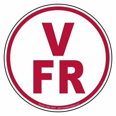 V-fr Floor Roof Truss Identification Reflective Label Decal 6 Inch Vinyl