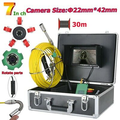 7 Lcd Pipe Inspection 1000 Tvl Video Camera Led Waterproof Drain Pipe Sewer 30m