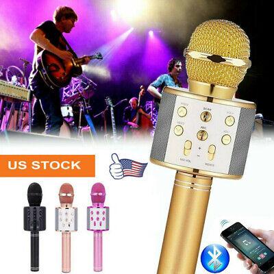 Handheld Wireless Bluetooth Karaoke Microphone WS-858 USB KTV  home MIC Speaker