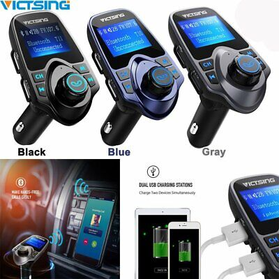 Stock Mp3 - Victsing Bluetooth FM Transmitter Car MP3 Radio Adapter USB Charger Kit US Stock