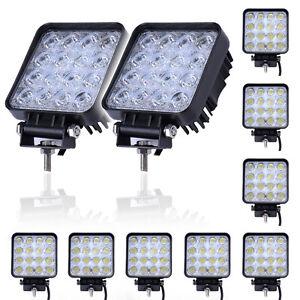 10X 48W 16 LED Arbeitsscheinwerfer 12V 24V Offroad Scheinwerfer für Jeep SUV