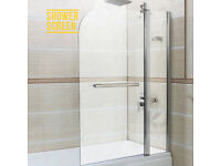 Brand new 6mm Tempered glass over bath shower screen