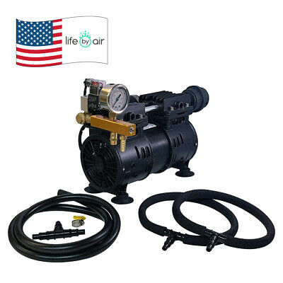 Aeration Kit Aqua 8w Piston Compressor Weighted Hose Self Weighted Diffusers