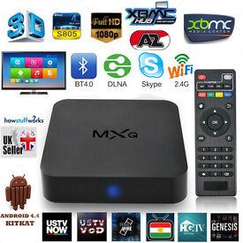 Latest MXQ Android TV Box 8GB Full HD. KODI, Live TV, Movies, Sports & More (Fully Loaded)
