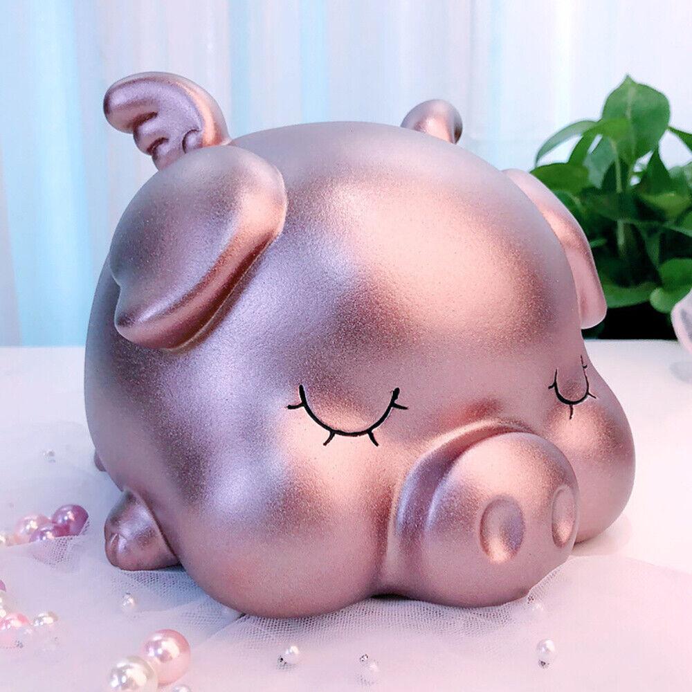Creative Piggy Bank Cute Cartoon Pig Shape Money Box Saving Pot Desktop Decor