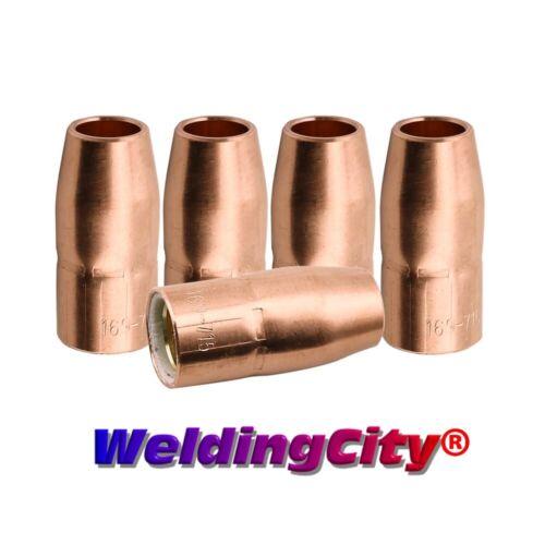 """WeldingCity® 5-pk MIG Welding Gun Nozzle 169715 1/2"""" for Miller M-10/M-15 Hobart"""