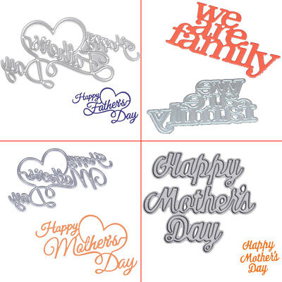 Happy Father's Mother's Day Metal Cutting Dies Embossing Stencil DIY Card Craft - Father's Day Diy