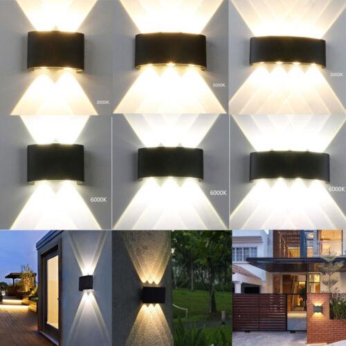 IP65 Aluminum Sconce Outdoor LED Wall Lamp Garden Corridor Balcony Up Down Light