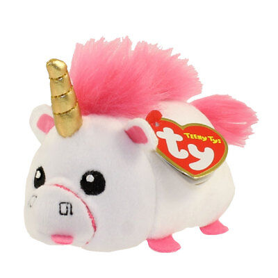"""TY Beanie Boos Teeny Tys 4"""" Despicable Me 3 FLUFFY the Unicorn Stackable Plush"""