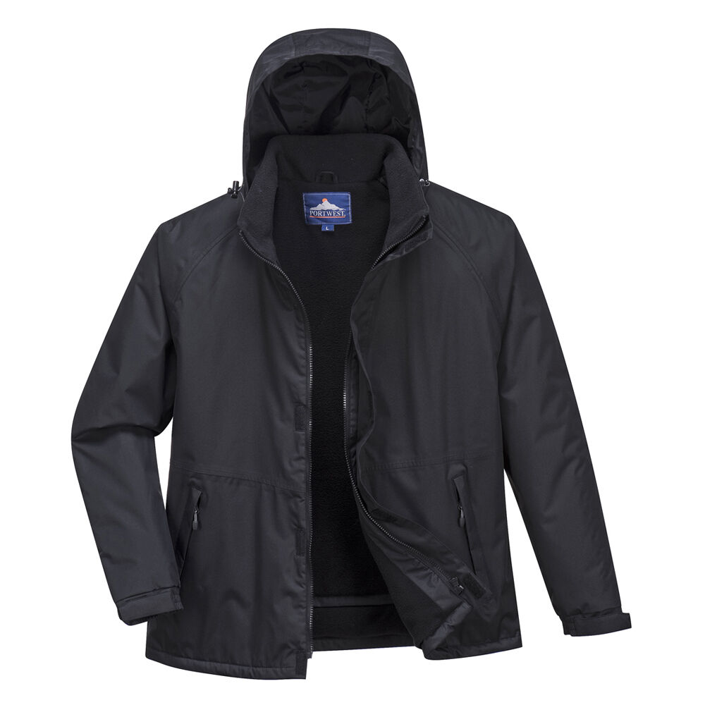 PortWest Men Limax Insulated Jacket Black//Navy Various Size S505