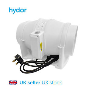 Hydor Commercial 200mm Mixed Flow In-Line Extract Fan HIMF Hydroponics