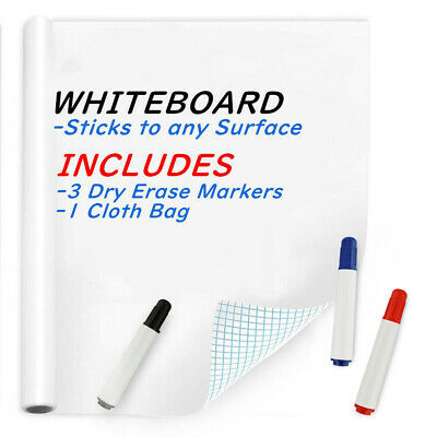 45200cm Whiteboard Sticker 3 Dry Erase Board Markers Removable White Board Wall