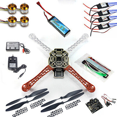 RC Quadcopter Drone Kit No TX RX : KK Flight Control F450 Flamewheel F02192-B