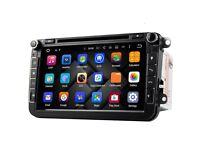 Android Double DIN 8 INCH Car Head Unit GPS Sat-Nav 8GB , IGO, VW, Skoda , Seat RRP £388