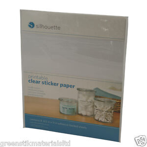 This is a picture of Ambitious Silhouette Printable Sticker Paper
