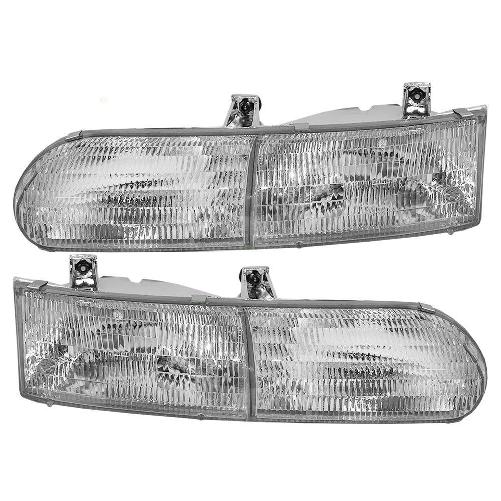 FOREST RIVER REFLECTION 2000 2001 2002 HEADLIGHTS HEAD LIGHTS LAMPS PAIR RV