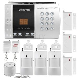 Wireless 68 Zones DIY Home Alarm Burglar Security System Auto Dialer