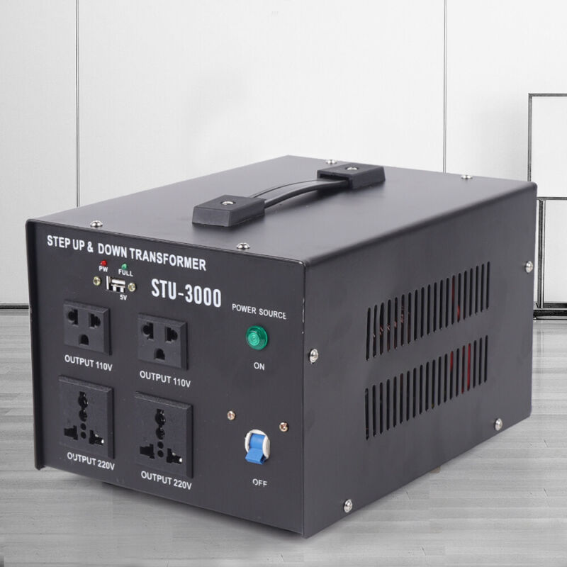 3000W Voltage Converter Transformer Heavy-Duty Step Up/Down 110V-220V,220V-110V
