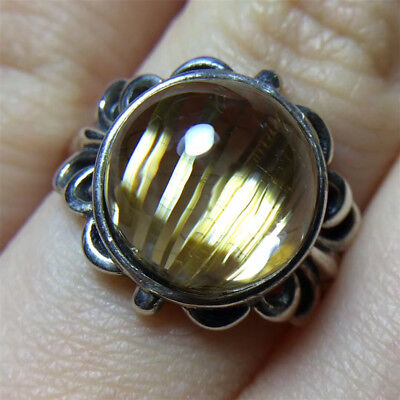 The World's Only Rare Golden hair cat's eye blink ring holiday gift 18110822