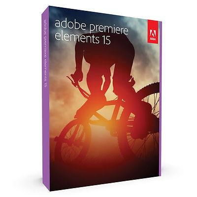 Adobe Premiere Elements 15 Windows Mac in Retail Box Brand NEW - Free Shipping!