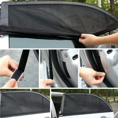 2x Useful Car Side Window Mesh Practical Curtain Durable Sun Shade Shield