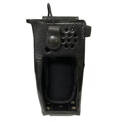 Leather Belt Clip Holster For Motorola Xpr 7550 Radios Includes Metal D-rings
