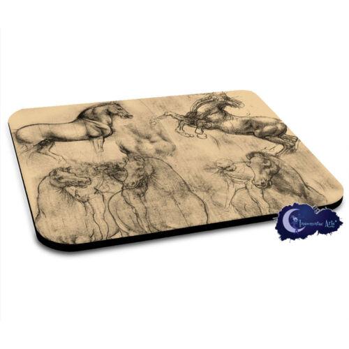 Leonardo DaVinci's Horses - Equine Art Mousepad - Horse Mouse Pad
