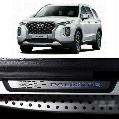 LED Door Scuff Step Plate 4p for 2019 2021 Hyundai Palisade