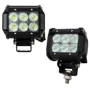 2x 4inch 30W Cree LED Light Bar Flood Work Driving Offroad Lamp S Melbourne CBD Melbourne City Preview
